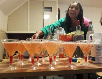 Champagne Strawberry Cocktails