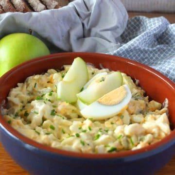 German Egg and Apple Salad