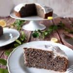 Lemon glazed poppy seed cake