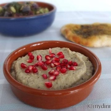Baba gGanoush with Pomegr