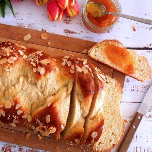 Sliced German Braided Bread