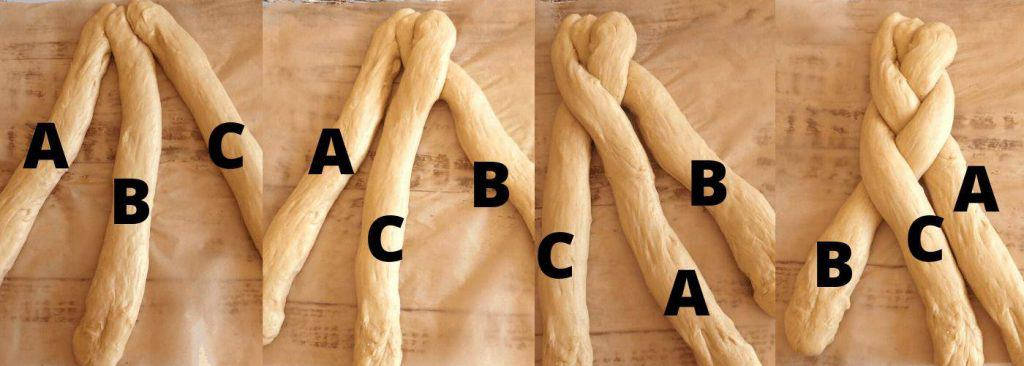 How to braid bread -instrutions