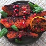 Lebanese Salmon with a Pomegranate Molasses Glaze