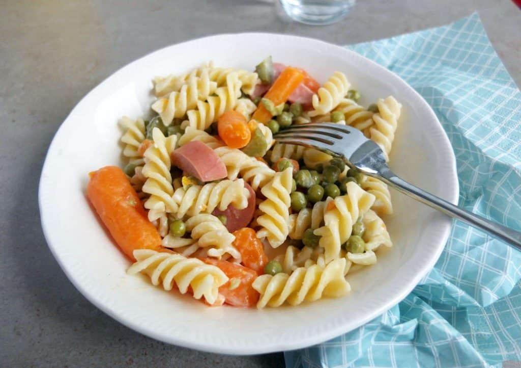 German Pasta Salad as a main course