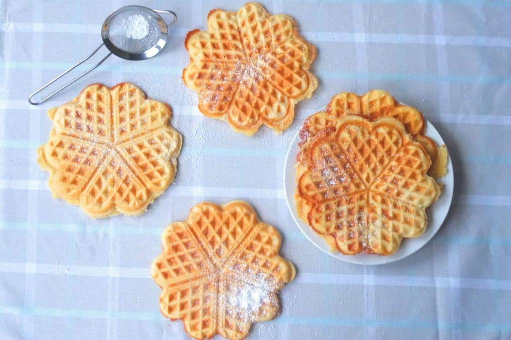German Waffles Heartshaped