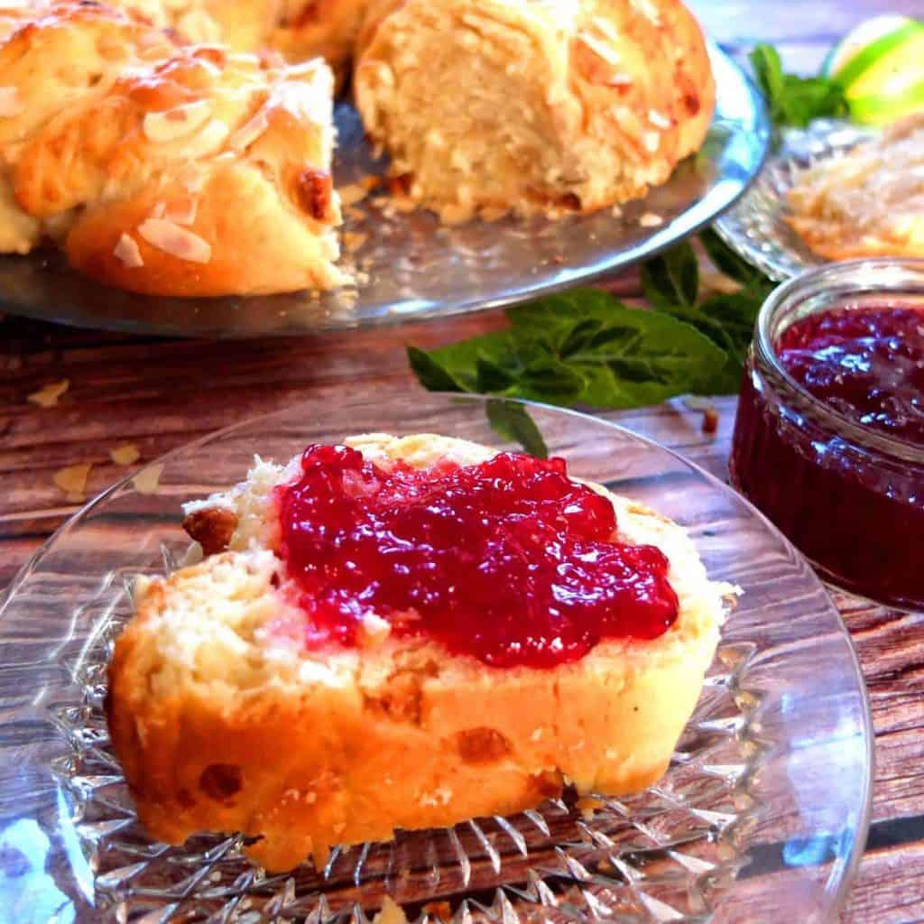 German Easter Breakfast with Jam