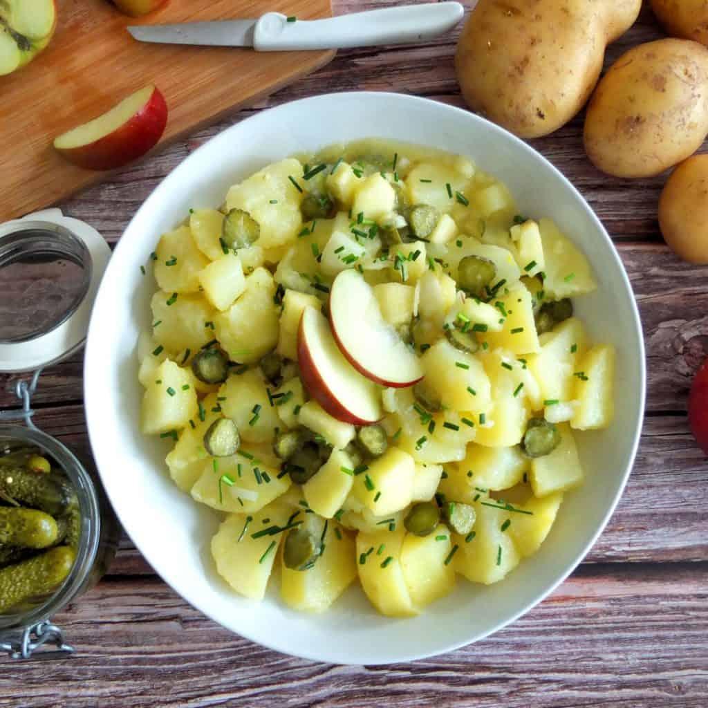 German Potato salad with Apples