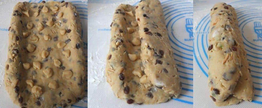 Steps on how to fold German Stollen