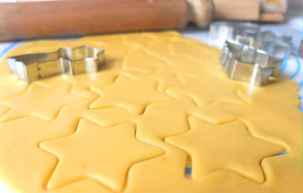 German butter cookies cut outs