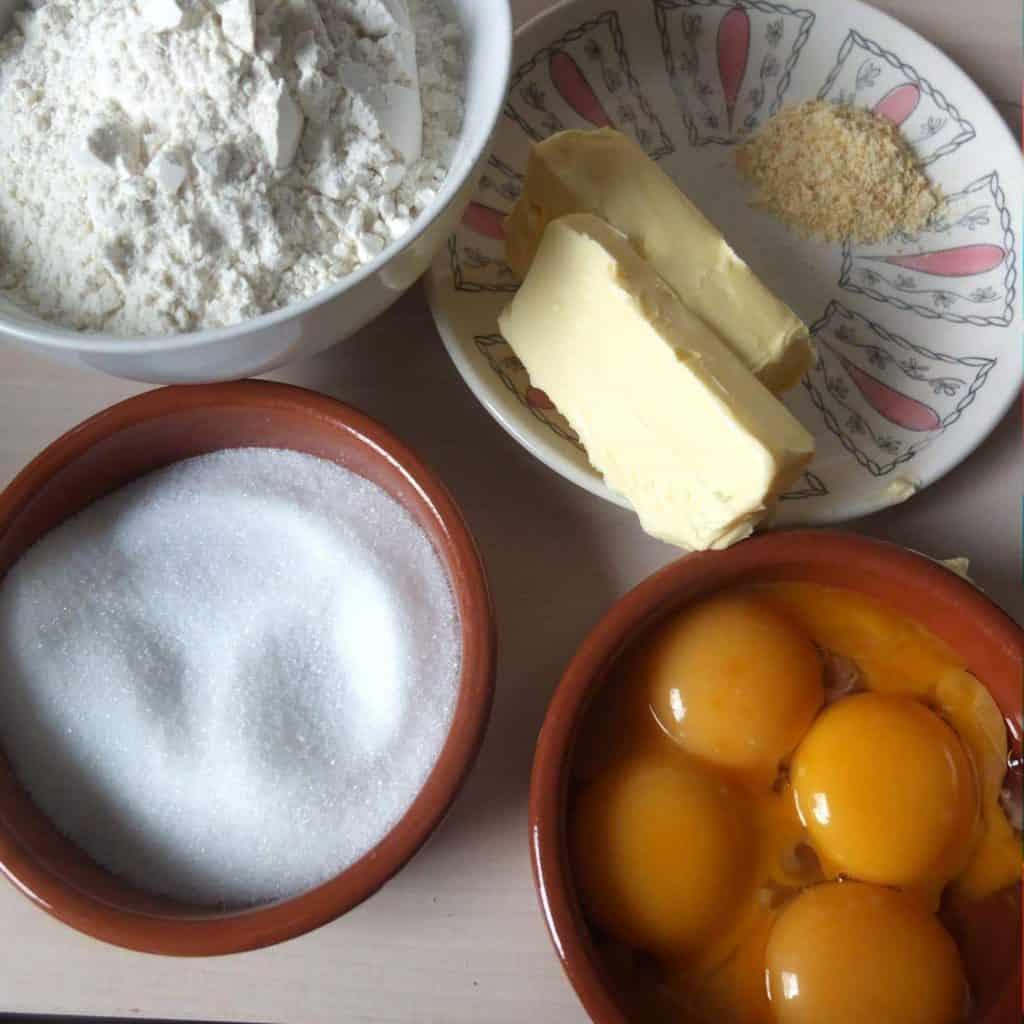 Ingredients For German butter cookies