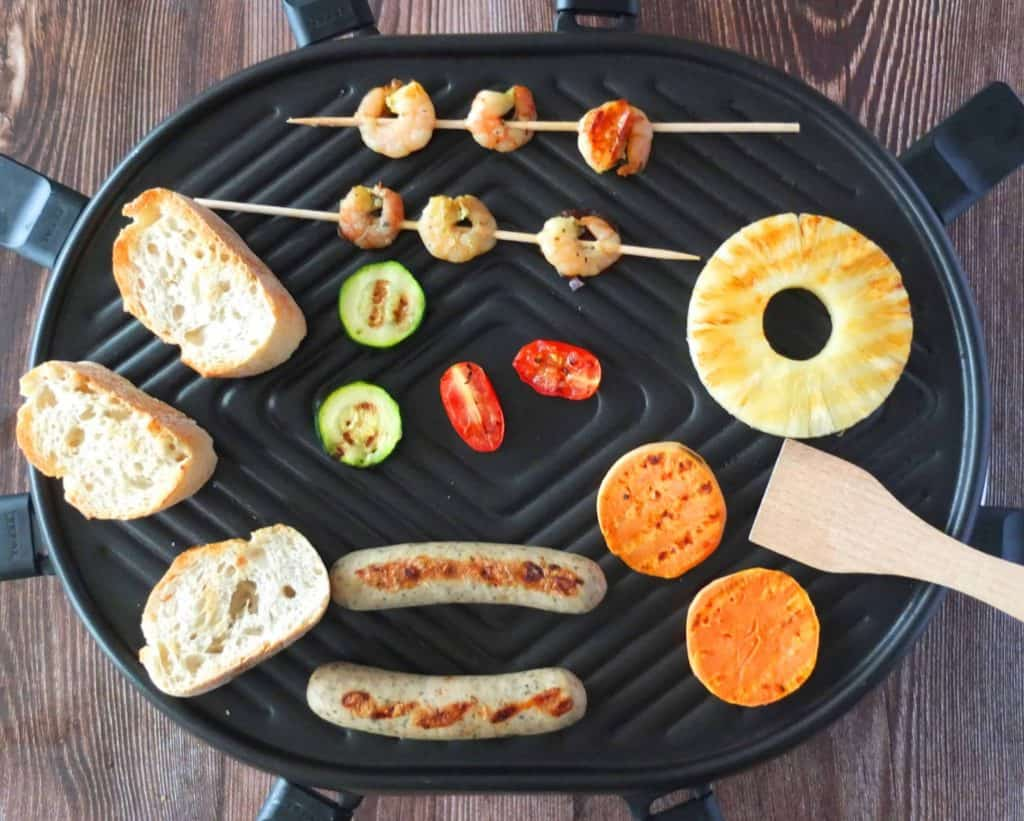 Raclette Ideas on what to place on the grill