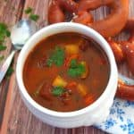 Bowl of German Goulash Soup