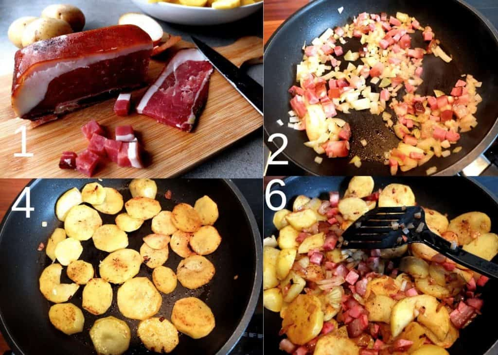 How to make German Fried Potatoes  - Step by Step instructions