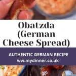 Obatzda with pretzels