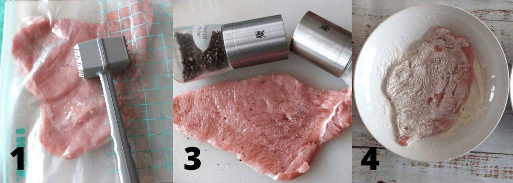 Recipe Steps for Turkey Schnizel