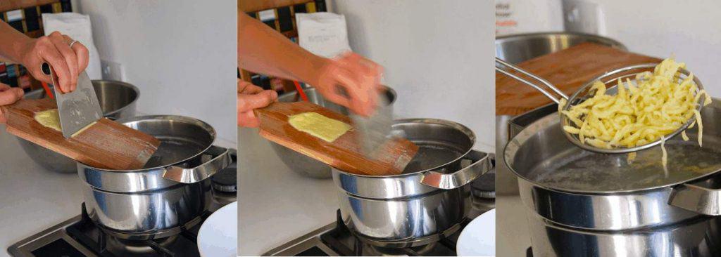 Making Spaetzle with a Spaetzleboard