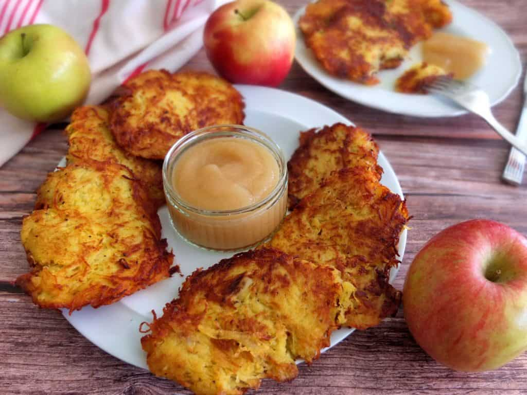 German Potato Pancakes with apple