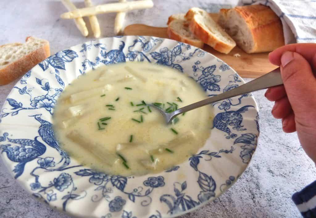 Eating White Asparagus Soup